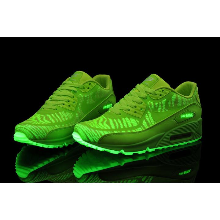 Nike Air Max 90 Prem Tape Glow in the Dark салатовые